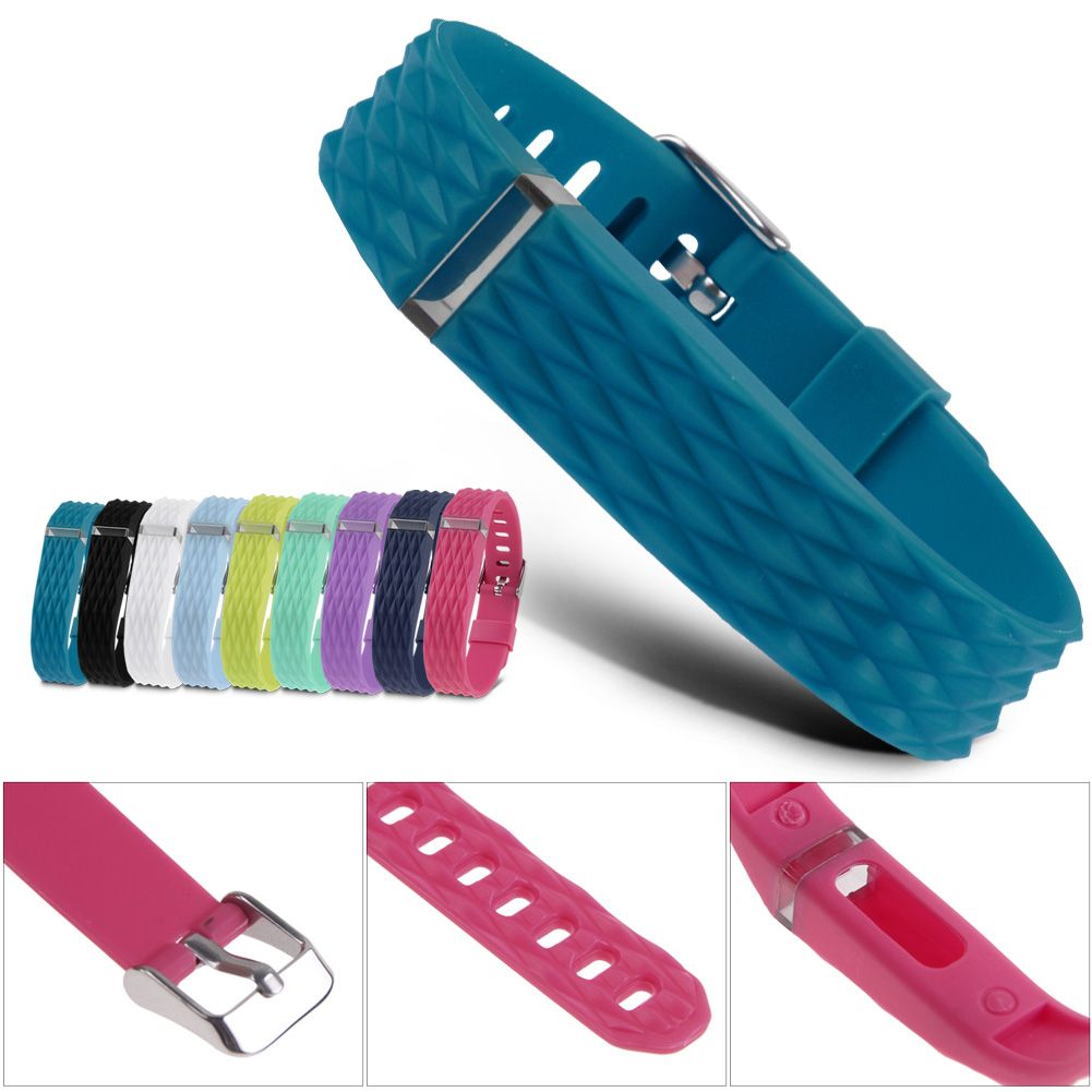 new replacement wrist band with metal buckle for fitbit