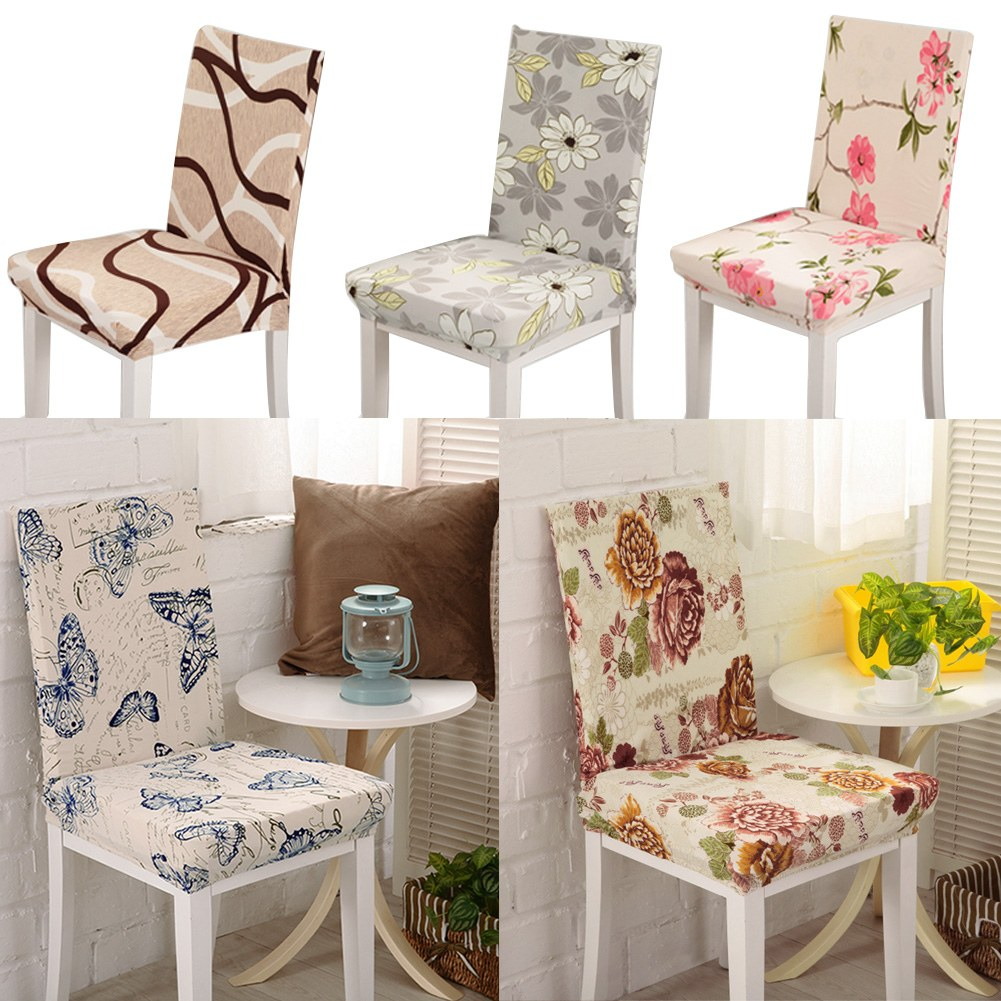 seat covers kitchen bar dining chair cover hotel restaurant wedding part decor ebay. Black Bedroom Furniture Sets. Home Design Ideas