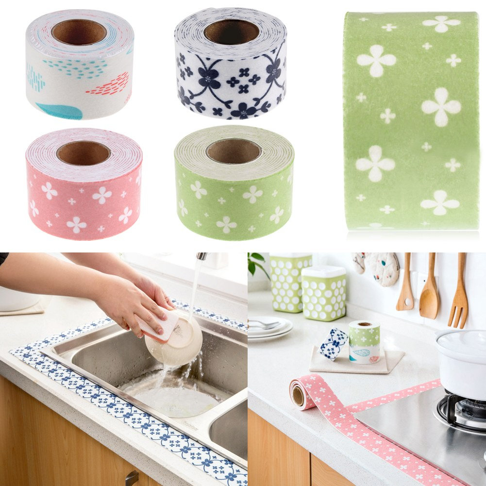 2 5m 50mm Bath And Wall Sealing Strip Sink Basin Edge Trim Kitchen Sealant Tape Ebay