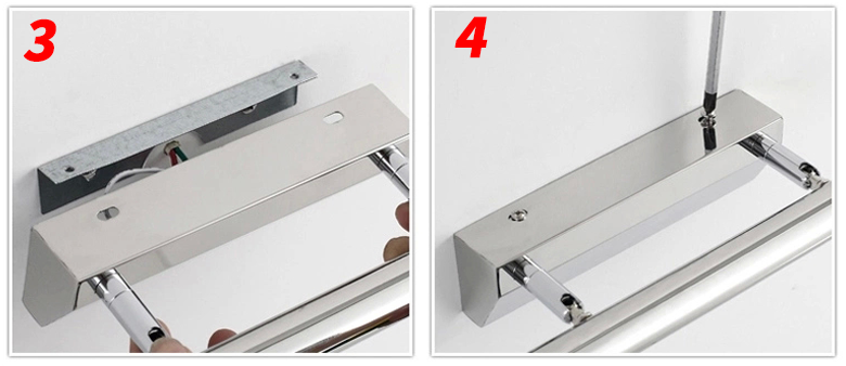 7w 8w led spiegelleuchte spiegellampe badleuchte bilderleuchte mit schalter ebay. Black Bedroom Furniture Sets. Home Design Ideas